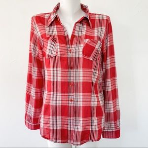 Tops - 🌟2/20$🌟Super soft red plaid button down